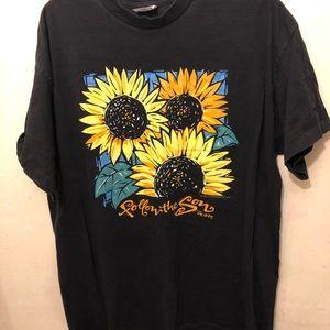A super cool sunflower shirt.